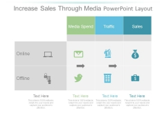 Increase Sales Through Media Powerpoint Layout