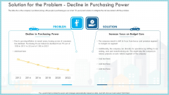 Increase Solution For The Problem Decline In Purchasing Power Mockup PDF