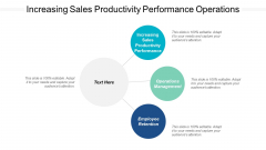 Increasing Sales Productivity Performance Operations Management Employee Retention Ppt PowerPoint Presentation Professional Slide Download