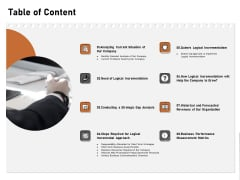 Incremental Approach Table Of Content Ppt Icon Design Ideas PDF