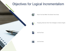 Incremental Decision Making Objectives For Logical Incrementalism Ppt Examples PDF
