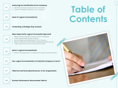 Incremental Planning In Decision Making Table Of Contents Topics PDF