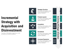 Incremental Strategy With Acquisition And Disinvestment Ppt PowerPoint Presentation Gallery Show PDF
