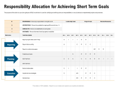 Incrementalism Process By Policy Makers Responsibility Allocation For Achieving Short Term Goals Ppt Infographics Information PDF