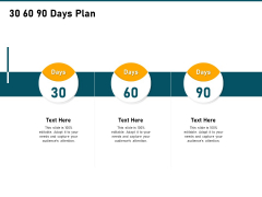 Incrementalism Strategy 30 60 90 Days Plan Ppt Gallery Influencers PDF