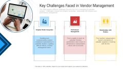Inculcating Supplier Operation Improvement Plan Key Challenges Faced In Vendor Management Infographics PDF
