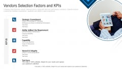 Inculcating Supplier Operation Improvement Plan Vendors Selection Factors And Kpis Brochure PDF