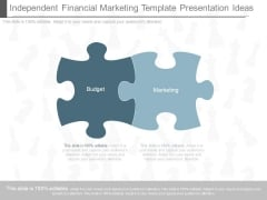 Independent Financial Marketing Template Presentation Ideas