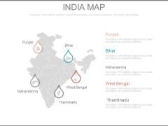 India Map Ppt Slide