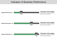 Indicators Of Busines Performance Ppt PowerPoint Presentation Infographics Influencers