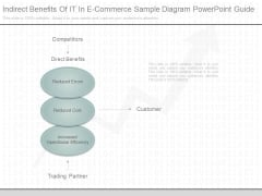 Indirect Benefits Of It In E Commerce Sample Diagram Powerpoint Guide