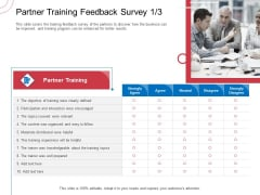 Indirect Channel Marketing Initiatives Partner Training Feedback Survey Content Pictures PDF