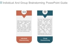 Individual And Group Brainstorming Powerpoint Guide