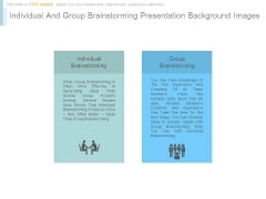 Individual And Group Brainstorming Presentation Background Images
