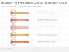Individual And Professional Wheels Presentation Design