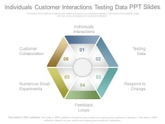 Individuals Customer Interactions Testing Data Ppt Slides