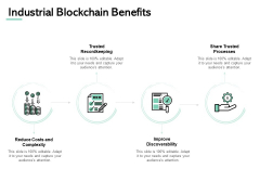 Industrial Blockchain Benefits Checklist Ppt PowerPoint Presentation Gallery Ideas
