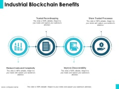 Industrial Blockchain Benefits Ppt PowerPoint Presentation Model Good