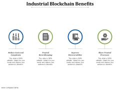 Industrial Blockchain Benefits Ppt PowerPoint Presentation Pictures Gallery