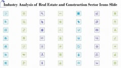 Industry Analysis Of Real Estate And Construction Sector Icons Slide Portrait PDF
