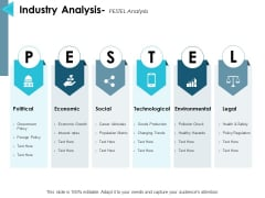 Industry Analysis Pestel Analysis Ppt PowerPoint Presentation Icon Smartart