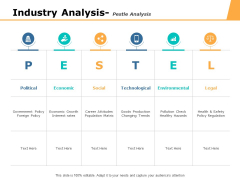 Industry Analysis Pestle Analysis Ppt PowerPoint Presentation Icon Infographic Template