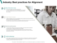 Industry Best Practices For Alignment Lead Generation Ppt PowerPoint Presentation Inspiration Graphics Example