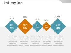 Industry Size Template Ppt PowerPoint Presentation Microsoft