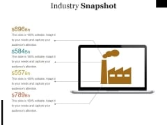 Industry Snapshot Template Ppt PowerPoint Presentation Infographics Show