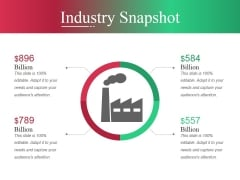 Industry Snapshot Template Ppt PowerPoint Presentation Slides Shapes