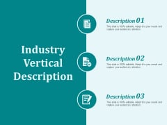 Industry Vertical Description Ppt PowerPoint Presentation Diagrams