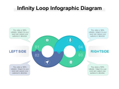 Infinity Loop Infographic Diagram Ppt PowerPoint Presentation Model Graphic Tips PDF