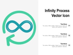 Infinity Process Vector Icon Ppt PowerPoint Presentation Gallery Clipart Images