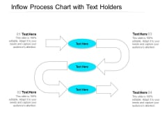 Inflow Process Chart With Text Holders Ppt PowerPoint Presentation File Themes PDF
