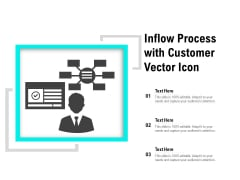 Inflow Process With Customer Vector Icon Ppt PowerPoint Presentation Gallery Example PDF