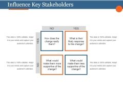 Influence Key Stakeholders Ppt PowerPoint Presentation Designs