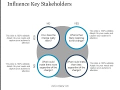Influence Key Stakeholders Ppt PowerPoint Presentation Ideas