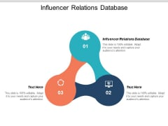 Influencer Relations Database Ppt PowerPoint Presentation Visual Aids Styles Cpb