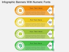 Infographic Banners With Numeric Fonts PowerPoint Template