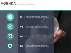 Infographic Design For Agenda Slide Powerpoint Slides