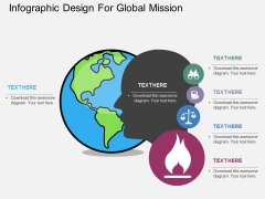 Infographic Design For Global Mission Powerpoint Template