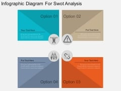 Infographic Diagram For Swot Analysis Powerpoint Template