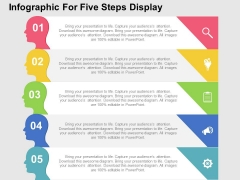 Infographic For Five Steps Display Powerpoint Templates