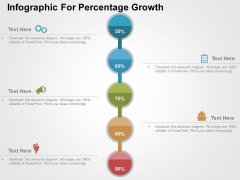 Infographic For Percentage Growth Powerpoint Templates