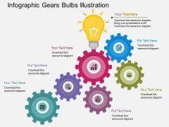 Infographic Gears Bulbs Illustration Powerpoint Template