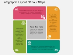 Infographic Layout Of Four Steps Powerpoint Templates