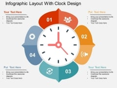 Infographic Layout With Clock Design Powerpoint Templates