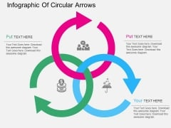 Infographic Of Circular Arrows Powerpoint Templates