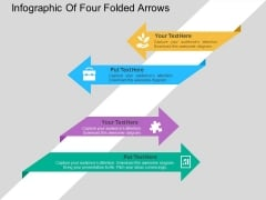 Infographic Of Four Folded Arrows Powerpoint Template