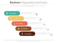 Infographic Steps For Marketing Research Powerpoint Template